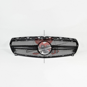 For Mercedes W176(A45 LOOK) SHINY BLACK GRILLE  13-  GLE