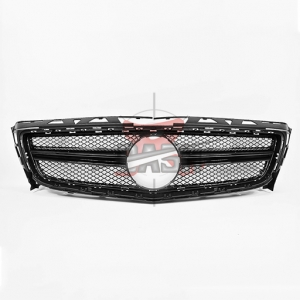 For Mercedes W218AMG(CLS63/15y  LOOK) SHINY BLACK GRILLE 09-14  CLS CLASS