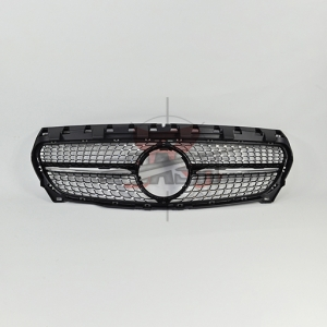 For Mercedes W117(CLA250  LOOK) SHINY BLACK GRILLE  14-  CLA CLASS