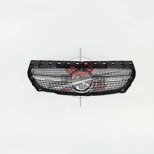 For Mercedes W117/CLA250  LOOK MATTE SILVER GRILLE  14- CLA CLASS