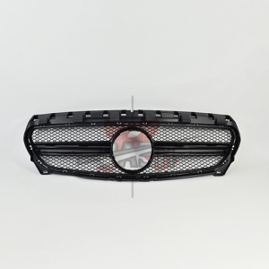 For Mercedes W117/CLA45  LOOK SHINY BLACK GRILLE 罩 14- CLA CLASS