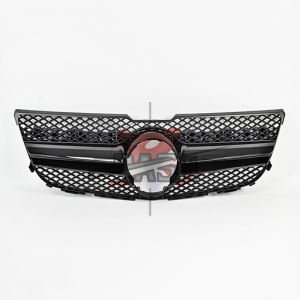For Mercedes X204/GLK(GLE63  LOOK) SHINY BLACK GRILLE  13- GLK CLASS