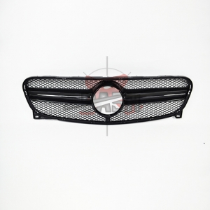 For Mercedes GLA class X156 W156 2014 UP Shiny Black Grille (GLA45 Look)