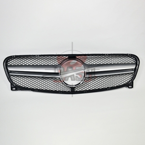 For Mercedes GLA class X156 W156 2014 UP Silver Grille (GLA45 Look)